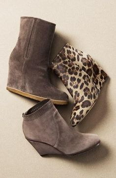You can never have too many wedge booties.