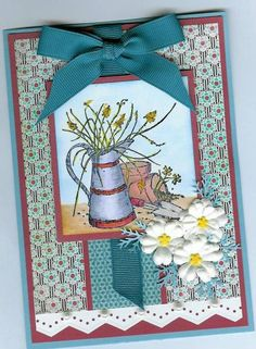 So Retired! by Happy Heart - Cards and Paper Crafts at Splitcoaststampers Retirement Cards, Long Time Friends, Flower Pots, Flowers, Basic Grey, Heart Cards, Happy Heart, Copics, Stamp Sets