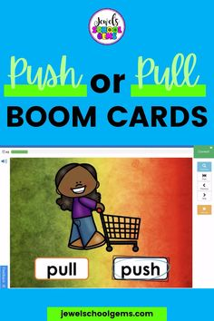 Boom Cards - Looking for resources to assess little ones' understanding of push or pull? These colorful Force and Motion Science BOOM Cards™ will do the trick! You will get a link to access 25 Digital Task Cards (1 card per slide) on the BOOM Learning℠ website and Teacher Notes for using these BOOM Cards™. Have your students differentiate between scenes that show a pulling or pushing action in no time. Click to learn more.