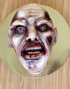 Kricky Cake Decorating: airbrushed Zombie cake tutorial 720p