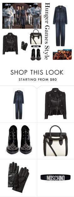 Hunger Games Style by adriana-claudia on Polyvore featuring Alexander McQueen, Madewell, Banana Republic, Moschino, Hungergames and contestentry