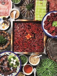 Hot pot in China, Sichuan 四川火锅 辣椒 #chinesefood #hotpot #spicyfood