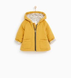 CREPE JACKET WITH HOOD-OUTERWEAR-BABY GIRL | 3 months-4 years-KIDS | ZARA United Kingdom