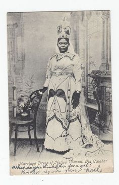 "Nigerian nostalgia: ""An unidentified Queen of Old Calabar Publisher Unknown Vintage Nigeria "" African Culture, African American History, African Art, British History, Nigerian Culture, Black King And Queen, Afro, Black Royalty, African Royalty"