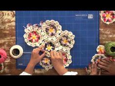 Flor Rendinha em crochê - Professora Simone - YouTube