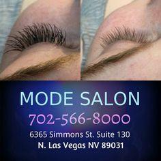 Eyelash extensions in Las Vegas NV, Mode Salon Before & After picture by Cheryl Las Vegas Salon Hair Color And Cut, Eyelash Extensions, Cheryl, Hair Type, Eyelashes, Las Vegas, Salons, Lashes, Lash Extensions