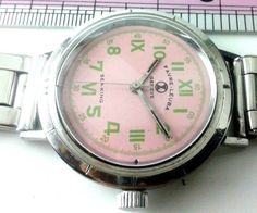 GENUINE 100% RARE VINTAGE GENT'S FAVRE LEUBA GENEVE SEA KING PINK WRIST WATCH #FavreLeuba #Dress
