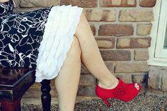 NEW Modest Slip Extender- White Rufffle Lace