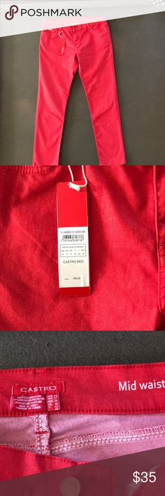 NWT Castro red pants 12 New with tags Castro red pants size US 12 EUR 44 UK 16. Make me an offer 😊 Castro Pants Ankle & Cropped