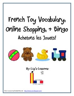 """$ Have your students practice and expand their toy vocabulary by """"shopping"""" on an authentic French website"""