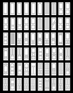 Interior Doors - I want row 4 column 5 in my house so bad! When we buy our next home I would like to invest in all new doors that are beautiful, instead of the cookie cutter hollow-core blandness we have now. My fave would be extra awesome painted in a glossy black.: