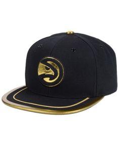 Mitchell   Ness Atlanta Hawks Soutache Viz Snapback Cap - Black Gold  Adjustable Atlanta Hawks b87cb11b418c