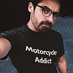Where does it say that motorcycle t-shirts have to be ugly? I'm not falling for that! Are you?  #motorcycletshirts #motorcycles Motorcycle Style, Being Ugly, Biker, Motorcycles, Sayings, T Shirt, How To Wear, Men, Lifestyle