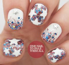 One Nail To Rule Them All: 4th of July Nails
