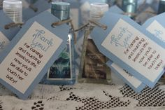 Give each baby shower guest a mini handsanitizer as the favor so they will have clean hands when the baby comes.  my dirty aprons  @silhouettepins