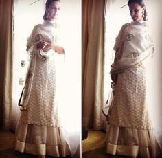 Neha Dhupia # Sanjay Garg # sharara love # Indian wear