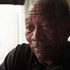 Morgan Freeman Saying Good Luck The Dark Knight