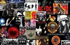 rock n roll collage picture and wallpaper