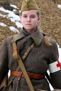 Red Army nurse (probably a modern reenactment photo)