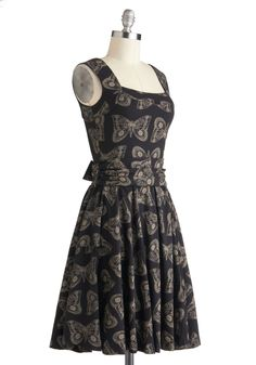 Guest of Honor Dress in Moths | Mod Retro Vintage Dresses | ModCloth.com
