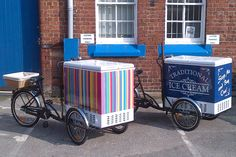 ice cream bikes in two designs