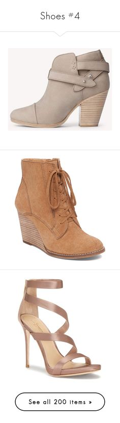 """""""Shoes #4"""" by curlgurl394 ❤ liked on Polyvore featuring shoes, boots, ankle booties, light grey, rag bone booties, bootie boots, ankle bootie boots, ankle boots, rag bone boots and sneakers"""