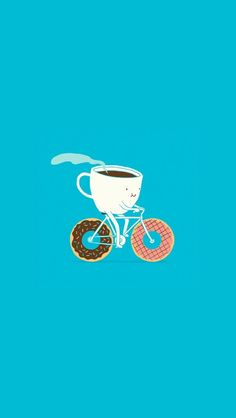 Coffee, donuts and bike? It's perfect!