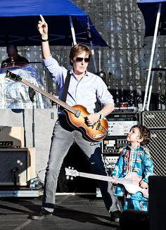 Seeing Paul McCartney live in concert (singing Hey Jude...)