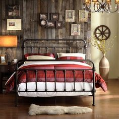 A little western, a little rustic - great guest room.