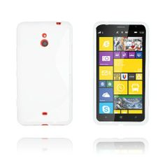 S-Line (Vit Nokia Lumia 1320 TPU Skal