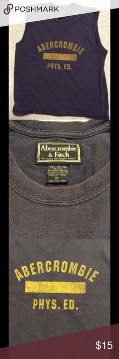 Vintage Abercrombie & Fitch Muscle Shirt Tank Awesome comfy Shirt; tag says XL but more aFitted M Abercrombie & Fitch Shirts Tank Tops