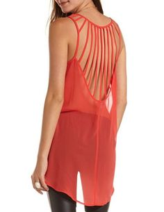 Cage-Back Extreme Hi-Low Tank from Charlotte Russe || Get 10% off here: http://www.studentrate.com/bu/get-bu-student-deals/Charlotte-Russe-10percent-Student-Discount--/0