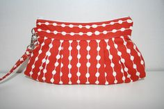 Stockholm Dots on String Red and White  by Themidnightsundesign, $24.00