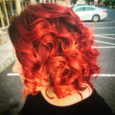 Flame red Haircolor Pravana Vivids