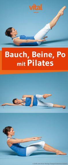 Die Muskulatur stärken und kräftigen mit Pilates, das geht am besten mit den folgenden Übungen. Wir helfen Euch euren Körper und Geist neu zu finden und zeigen euch die passenden Übungen für Bauch, Beine und Po.