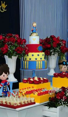 The Little Prince Anniversary Party cake!  See more party planning ideas at CatchMyParty.com!