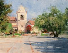 Mike Wise, Carmelo Courtyard, oil, 14 x 18.