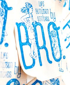 hand-printed silk labels