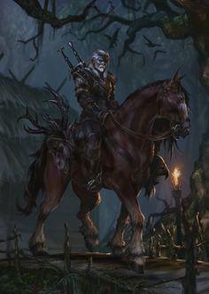 The Witcher, Fadly Romdhani on ArtStation at https://www.artstation.com/artwork/rZ6v6