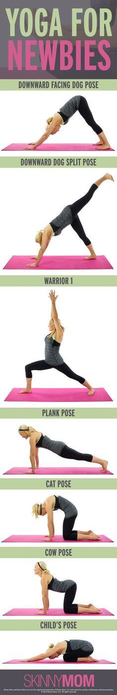 Yoga poses for beginners.
