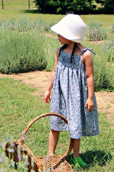Peaches and Bees: Vintage Inspired Saudade Sun Dress for Little Momo