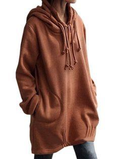 Plain Designed Cowl Neck Hoodies #ClothingOnline #PlusSizeWomensClothing #CheapClothing #FashionClothing #womenswear #sexydress #womensdress #womenfashioncasual #womensfashionforwork #fashion #womensfashionwinter