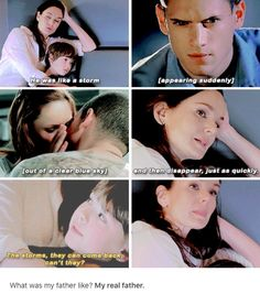"""""""The storms, they can come back, can't they?"""" - Mike and Sara Series Movies, Movies And Tv Shows, Tv Series, Best Tv Couples, Best Couple, Prison Break Quotes, Wentworth Miller Prison Break, Michael And Sara, Sarah Wayne Callies"""