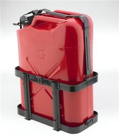 These Smittybilt Jerry Can holders allow you to carry an extra 5 gallon gas can. They feature full metal construction with a lockable top strap and have a powder coated finish for maximum durability. Hummer H3, Truck Mods, Truck Camper, Nissan Hardbody 4x4, Nissan Xterra, Jerry Can, Can Holders, Jeep Jk, Jeep Wrangler Unlimited