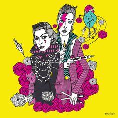 Chanel & David Bowie - 50x50cm - $750