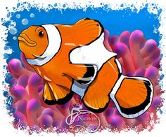 Clown Fish Daily Creature by NadilynBeatosArt on Etsy, $10.00