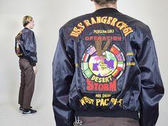 Motorcycle Jacket, Bomber Jacket, Line Jackets, 1990s, Really Cool Stuff, Deserts, Tours, Satin Finish, Sweatshirts