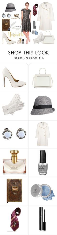 """""""Hogwarts in the Snow at Warner Bros. Studio Tour London – The Making of Harry Potter"""" by chicbychoiceworld ❤ liked on Polyvore featuring Qupid, Victoria Beckham, Aspinal of London, Nordstrom, Alice Joseph Vintage, Armani Collezioni, Bulgari, OPI, Mineral Essence and Chanel"""