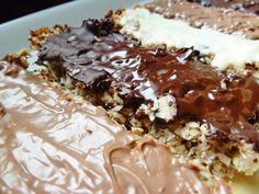Naturalna kuchnia wege: Batoniki owsiano - kokosowe z czekoladą