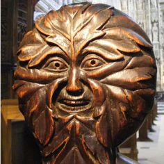 Green Man in Winchester Cathedral, Hampshire, England (photo John W. Schulze)